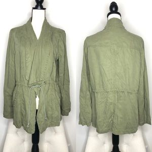 Max Jeans Olive Green Light Wright Jacket Sz XL
